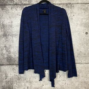 Ann Taylor Factory // Heathered Blue Open Cardigan